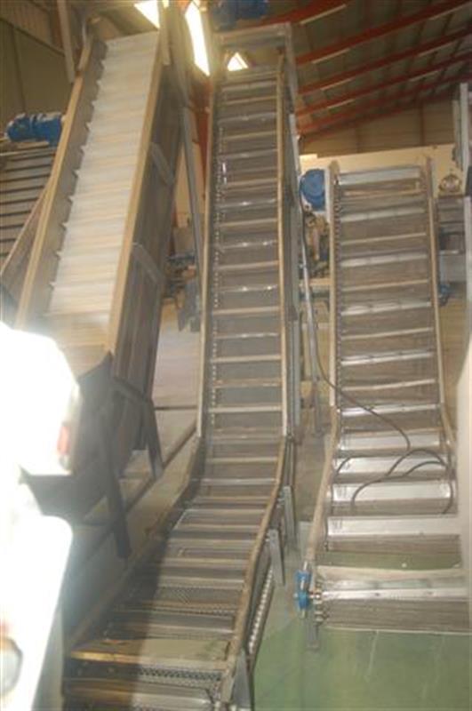 1 elevador de cangilones con malla perforada en acero inox. 1