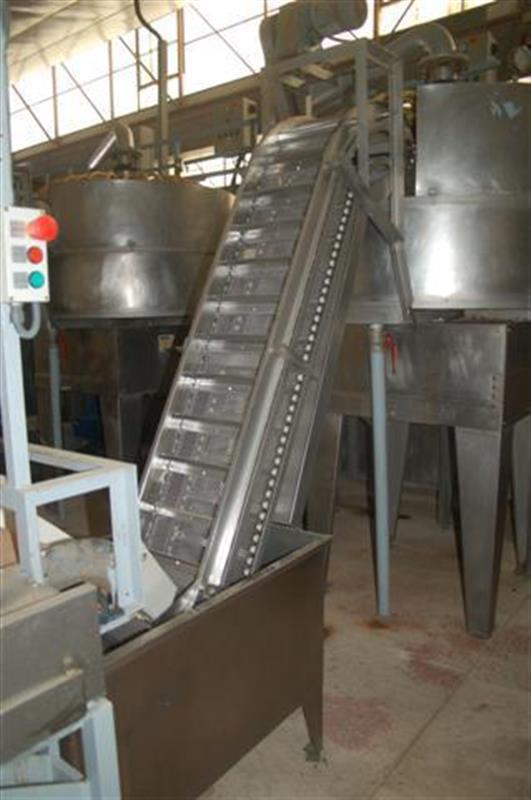 1 elevador de cangilones y cuello cisne con balsa en acero d 2.22 m 1 1