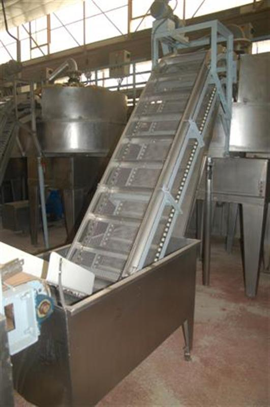 1 elevador de cangilones y cuello cisne con balsa en acero d 2.22 m 1 4