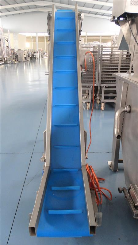 1 elevador de palas de lona gelgoog inox. descarga 2 m a 33 cm