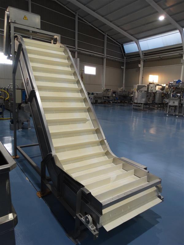 1 elevador de palas modular inox. descarga 2.20 m a 81 cm