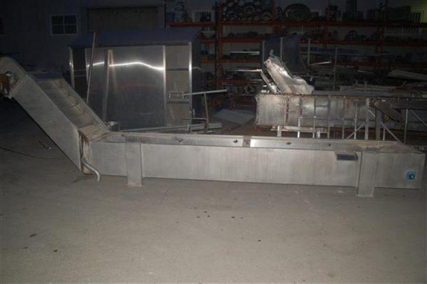 1 enfriador lineal de cangilones en acero inox. ferlo
