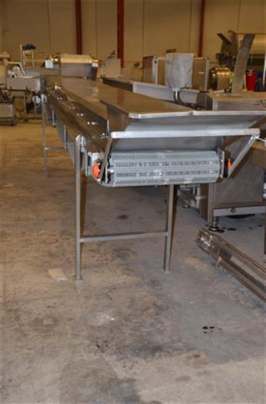 1 escaldador lineal por vapor directo inox. l 6.23m