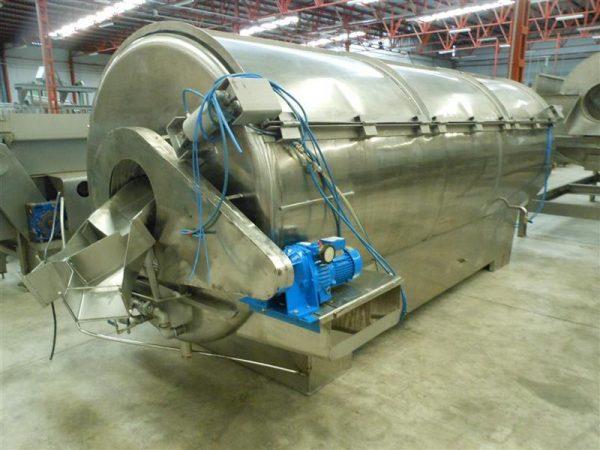 1 escaldador rotativo en acero inox. 1