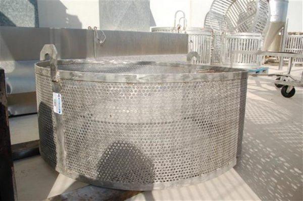 1 jaula cilindrica con carro de malla perforada 1.24 m 2