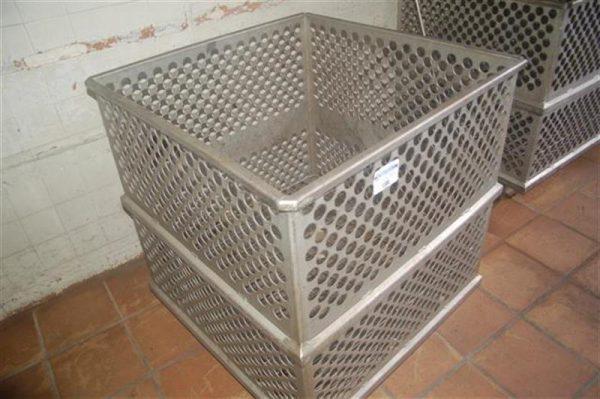 1 jaula cuadrada para autoclave en acier inox 90 cm