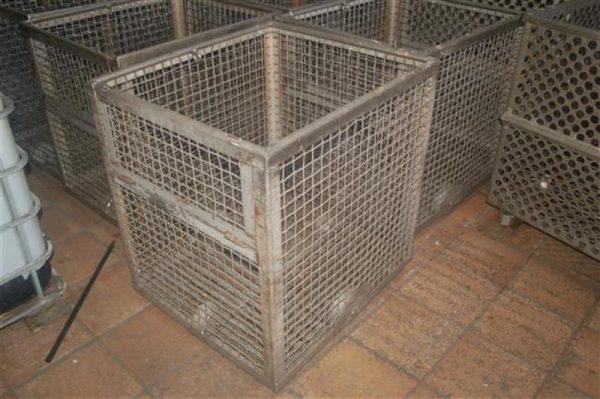 1 jaula de cocedor en acero inox.l80 cm 4