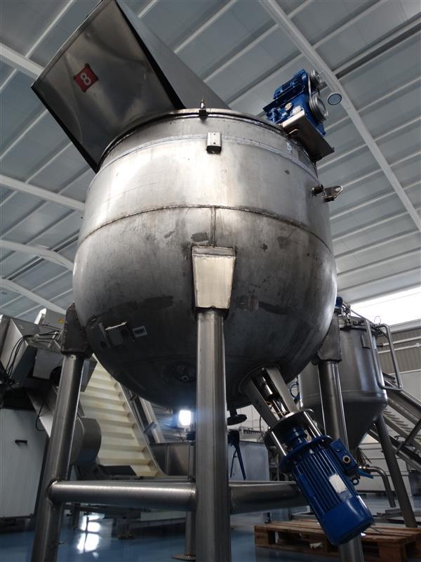 1 marmita perol mixer vertical de doble fondo con agitador cts 2.500 l