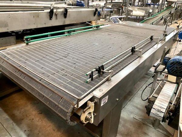1 mesa de acumulacion de paletizado con banda modular. l 3.50 m a 1.45 m