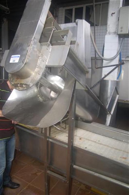 1 sinfin elevador en acero inox. l 2.10 m