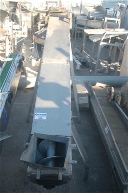 1 sinfin transportador en acero inox.l 2.35 m ancho 80 cm.