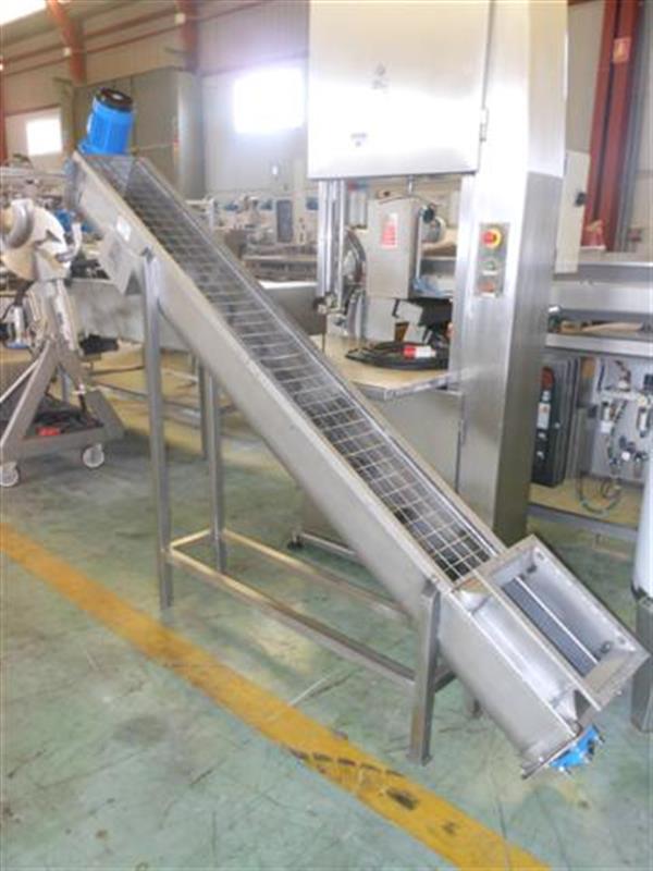 1 sinfin transportador en acero inox.l 2.80 m ancho 22 cm. 1