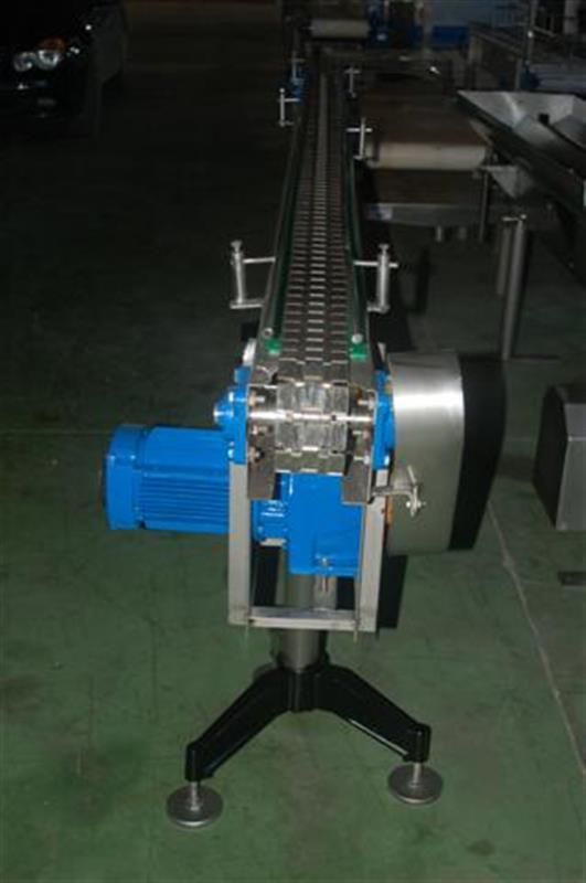 1 transportador de charnela en acero inox de 8 cm l 3 m