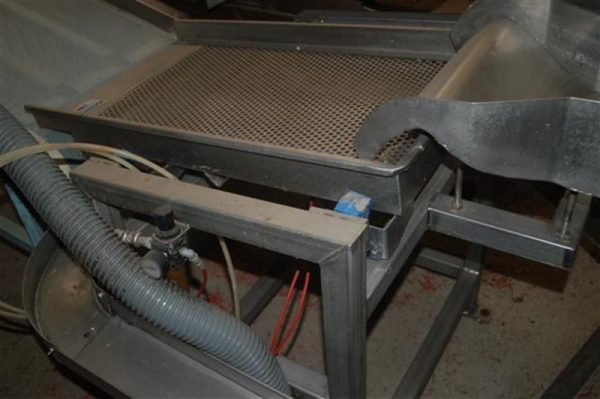 1 vibrador neumatico en acero inoxidable con chapa perforada