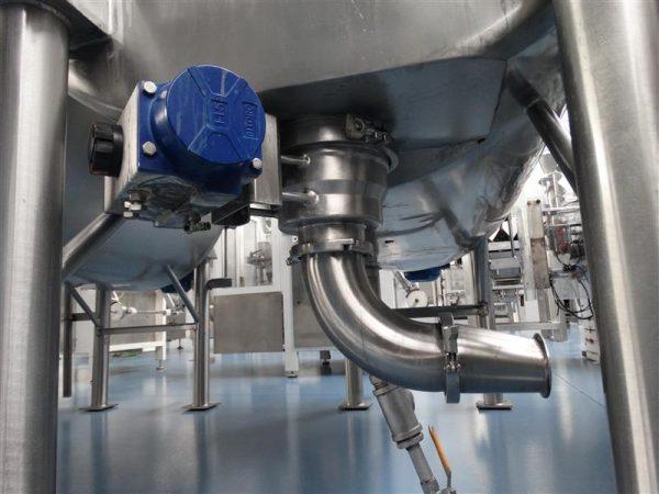 12 mezcladora horizontal doble fondo viatec 1800 l inox
