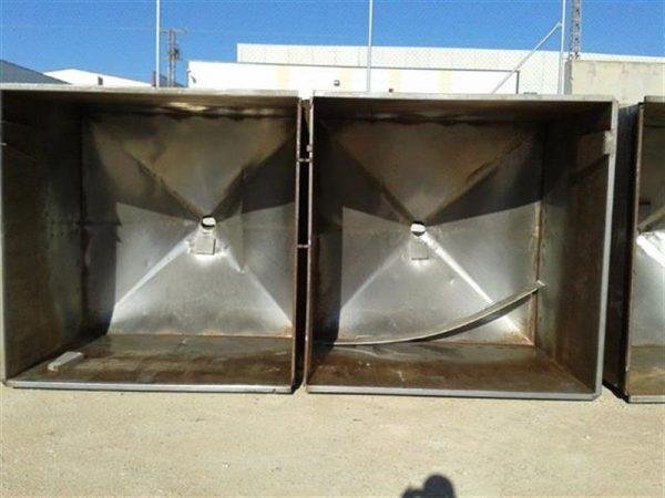 2 balsa rectangular en acero inox. 8000 l 6