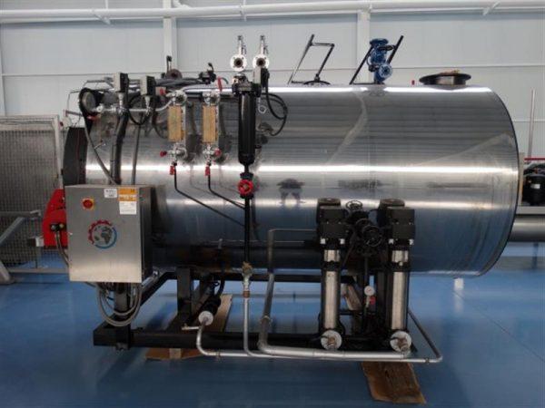 2 caldera de vapor 1.500 kg vaporh mingazzini con quemador diesel
