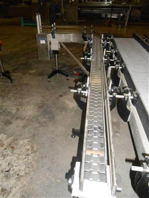 2 cinta transportadora con curva de charnela en acero inoxancho8 cm