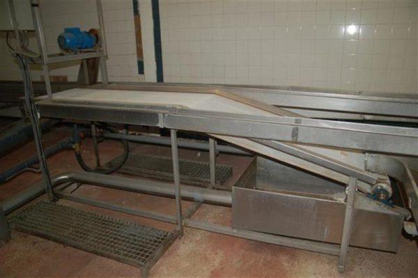2 cinta transportadora con malla escurrir producto fma l2.90 m a57 cm