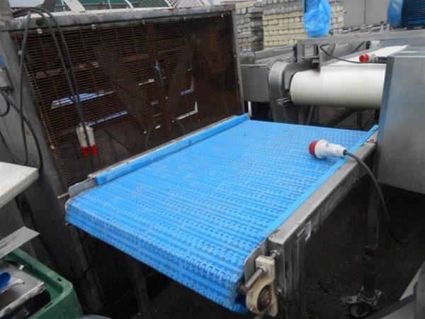 2 cinta transportadora de banda modular inox l 1.22 a 0.69 m