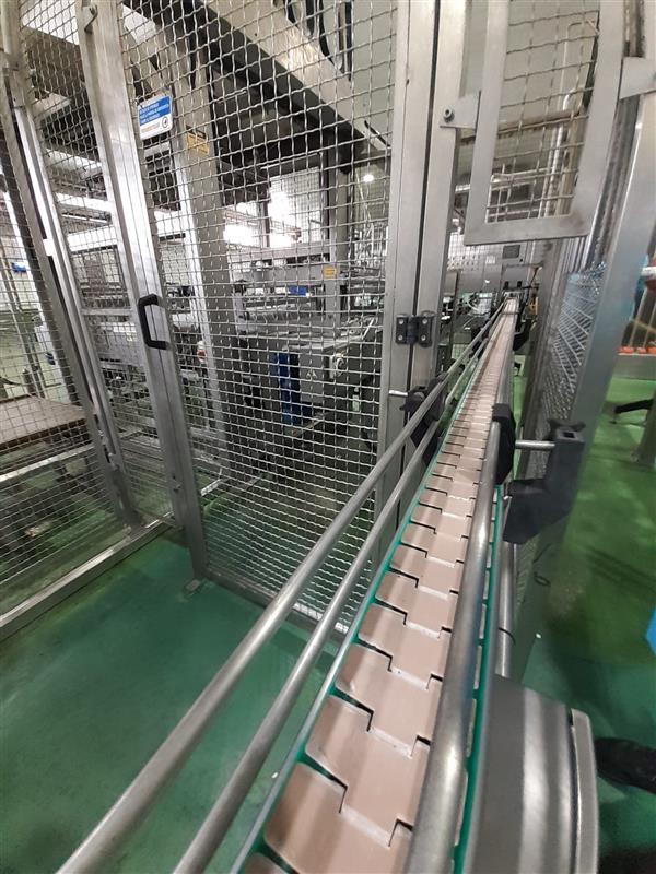 2 cinta transportadora de charnela inox l 8.00 m a 10 cm