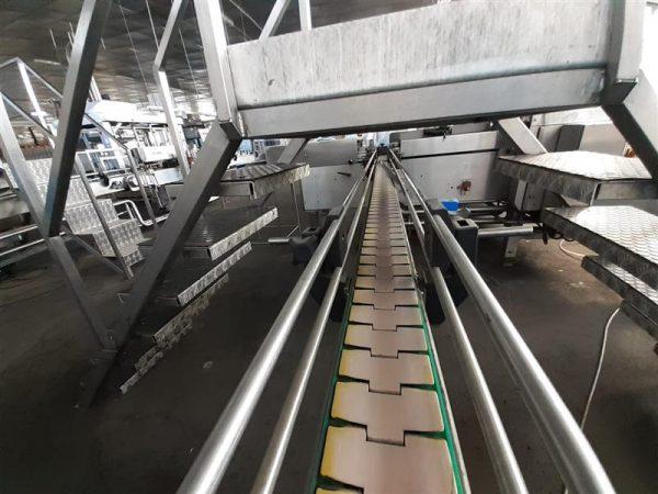 2 cinta transportadora de charnela segui inox. l 7.34 m a 13 cm