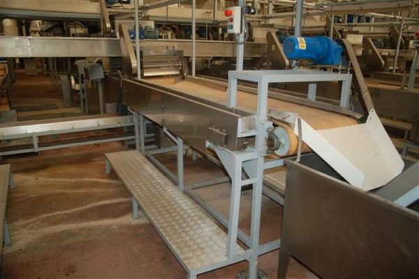 2 cinta transportadora de lona con 2 salidas desperdicio l2.96m a55cm