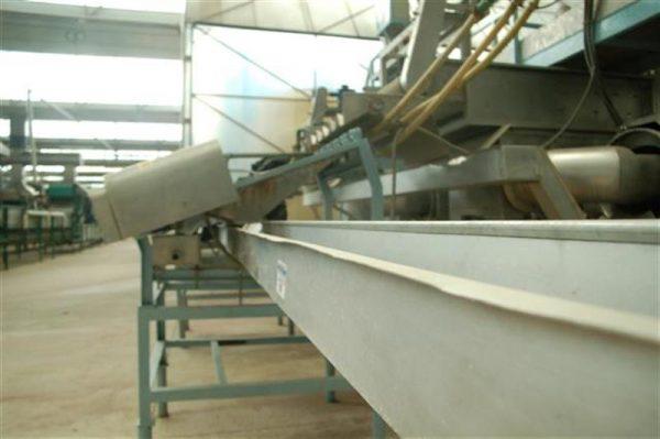 2 cinta transportadora de lona con salida desperdicio l14.50 a35 cm