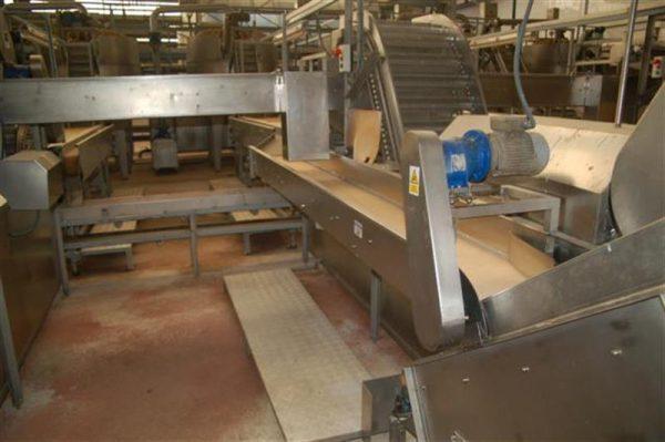 2 cinta transportadora de lona en acero inox con bancada l 3.60 a30 cm