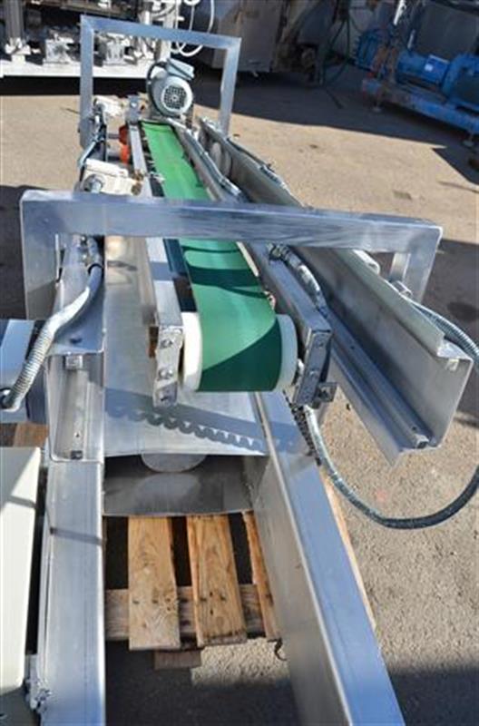2 cinta transportadora de lona en acero inox de pie. alto3.30m a13cm.