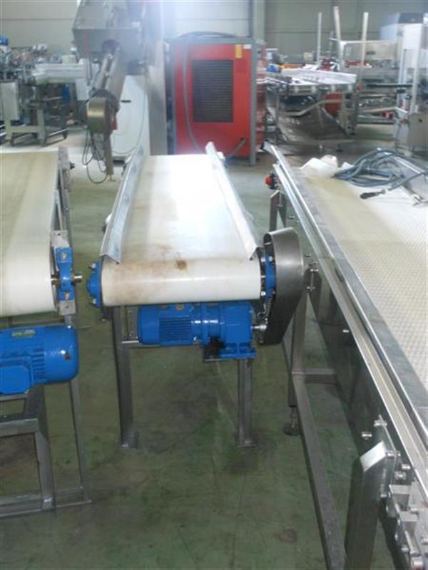 2 cinta transportadora de lona en acero inox. l2.05m a34cm.