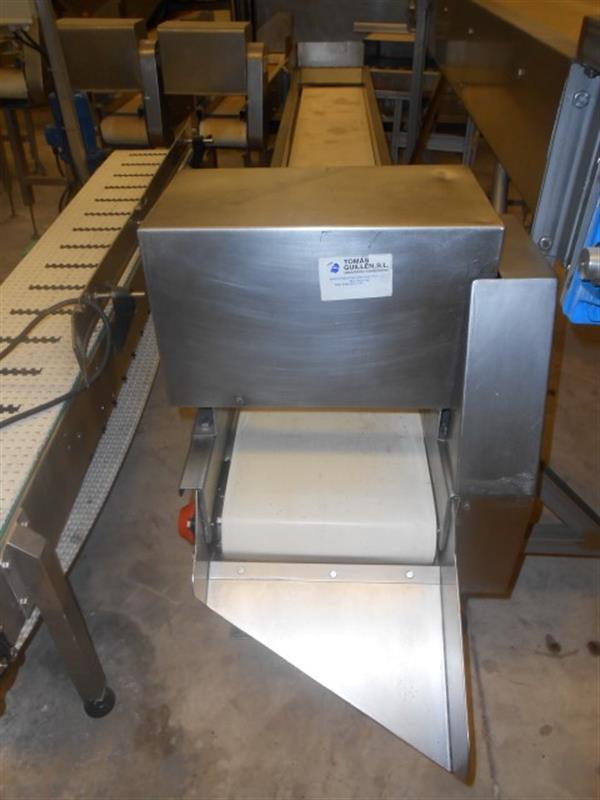 2 cinta transportadora de lona en acero inox. l3.17m a31cm.