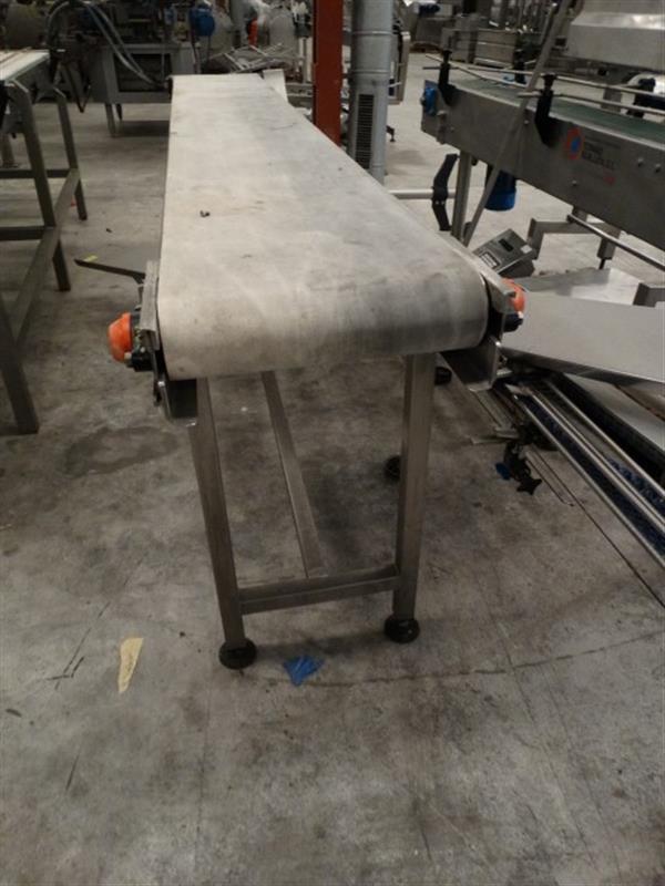 2 cinta transportadora de lona inox l 3 m a 0.40 m