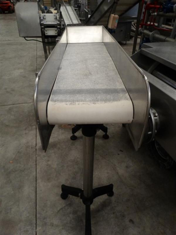 2 cinta transportadora de lona inox l1.60 m a 0.32 m