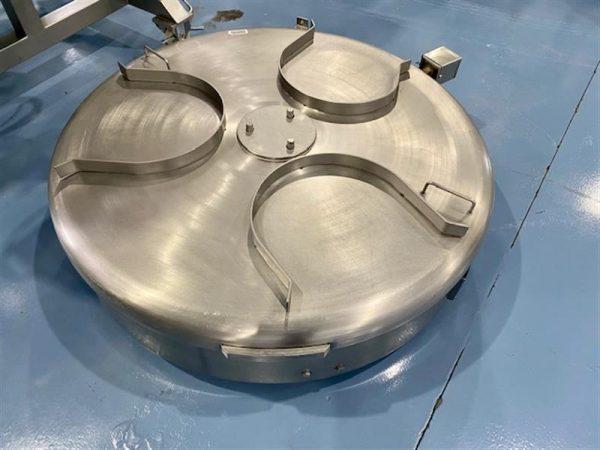 2 disco alimentador de 3 cestos turatti inox. diametro 1.20 m