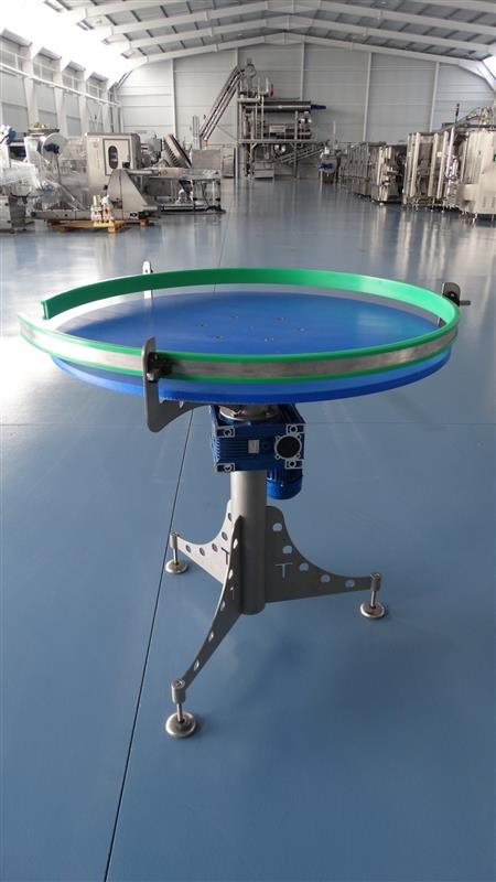 2 disco alimentador de pvc inox. diametro 1 m
