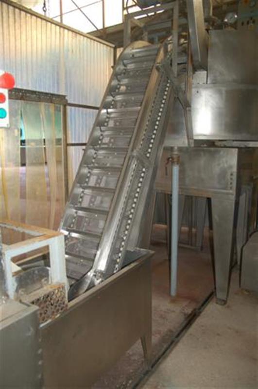 2 elevador de cangilones y cuello cisne con balsa en acero d 2.22 m 1 2