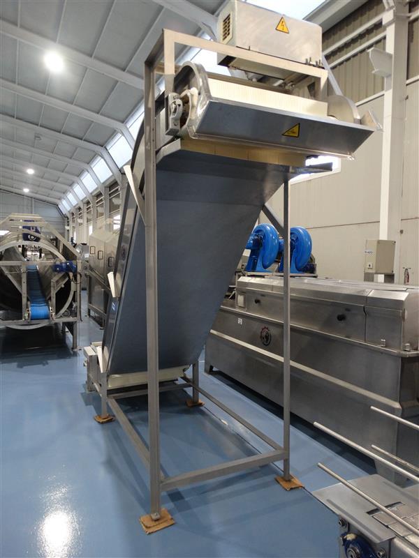 2 elevador de palas modular inox. descarga 2.20 m a 81 cm