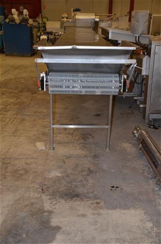 2 escaldador lineal por vapor directo inox. l 6.23m