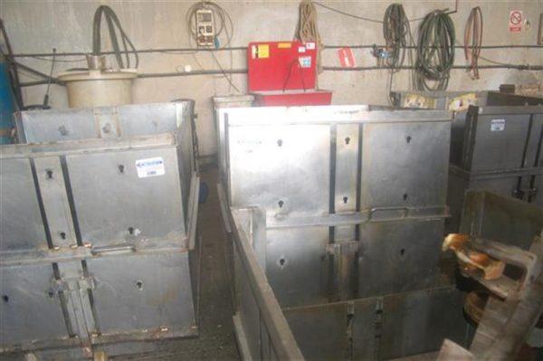 2 jaula cuadrada para autoclave con carro en acier inox 85 cm