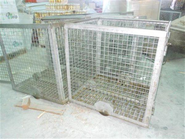 2 jaula cuadrada para autoclave en acier inox starb