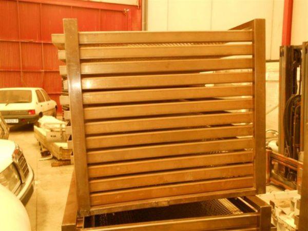 2 jaula en acero inox con 12 bandejas rodabe.l1 m 1