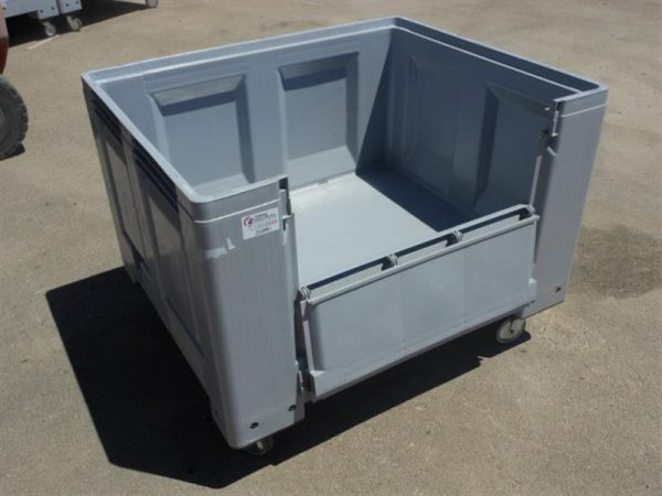 2 palot box con ruedas y puerta lateral