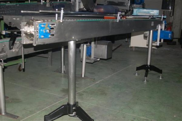2 transportador de charnela en acero inox de 8 cm l 3 m
