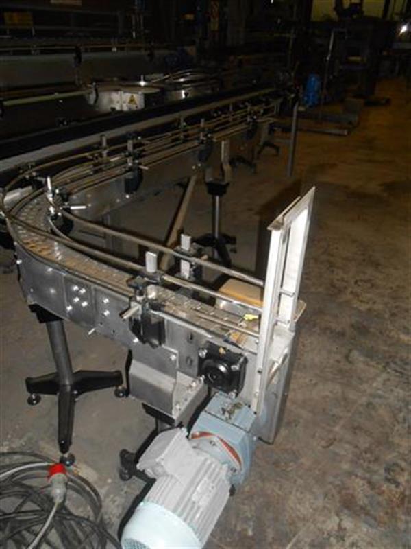 3 cinta transportadora con curva de charnela en acero inoxancho8 cm