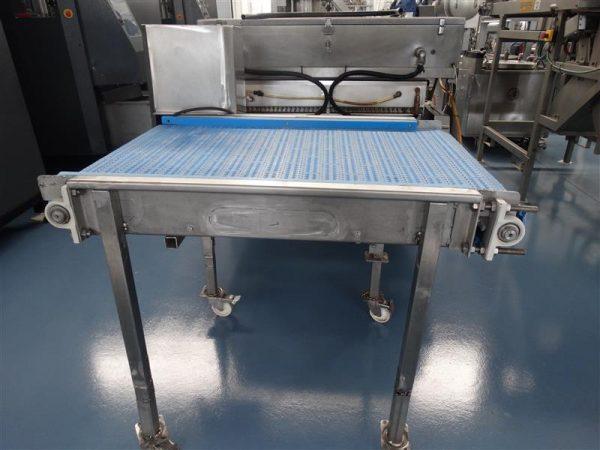 3 cinta transportadora de banda modular inox l 1.22 a 0.69 m