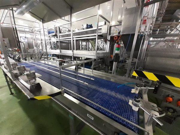 3 cinta transportadora de banda modular inox. l 3.12 m a 60 cm