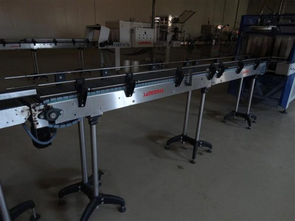 3 cinta transportadora de banda modular inox. l 3.90 m a 30 cm