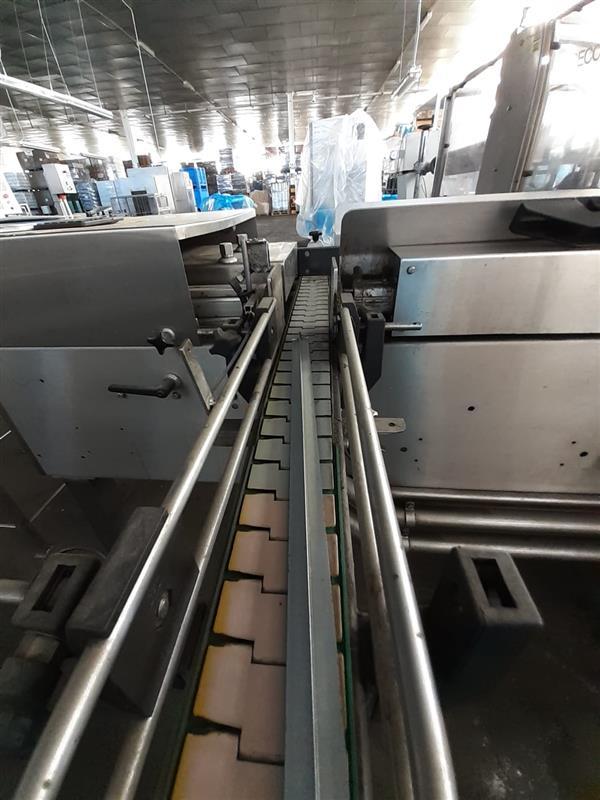 3 cinta transportadora de charnela segui inox. l 7.34 m a 13 cm