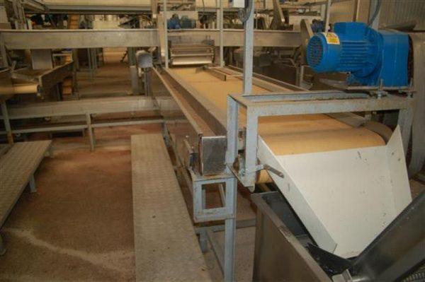 3 cinta transportadora de lona con 2 salidas desperdicio l3.64m a57cm